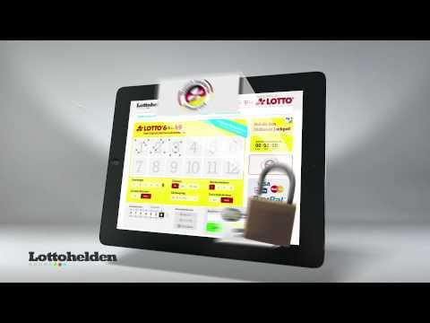 Lottohelden Seite auf einem Tablet