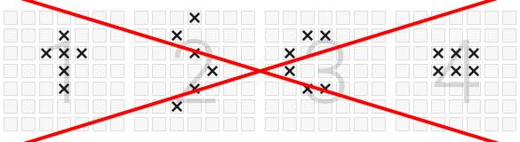 Vermeiden Sie die Bildung von Mustern auf dem Lotto-Spielschein