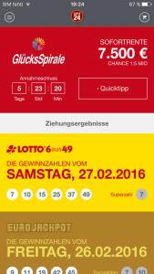 App-Vergleich: Lotto24_Startseite