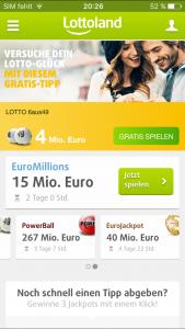 App-Vergleich: Lottoland_Startseite