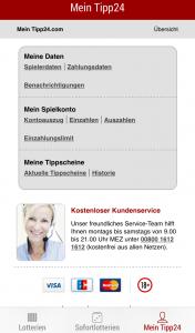 App-Vergleich: Tipp24_Kundenservice
