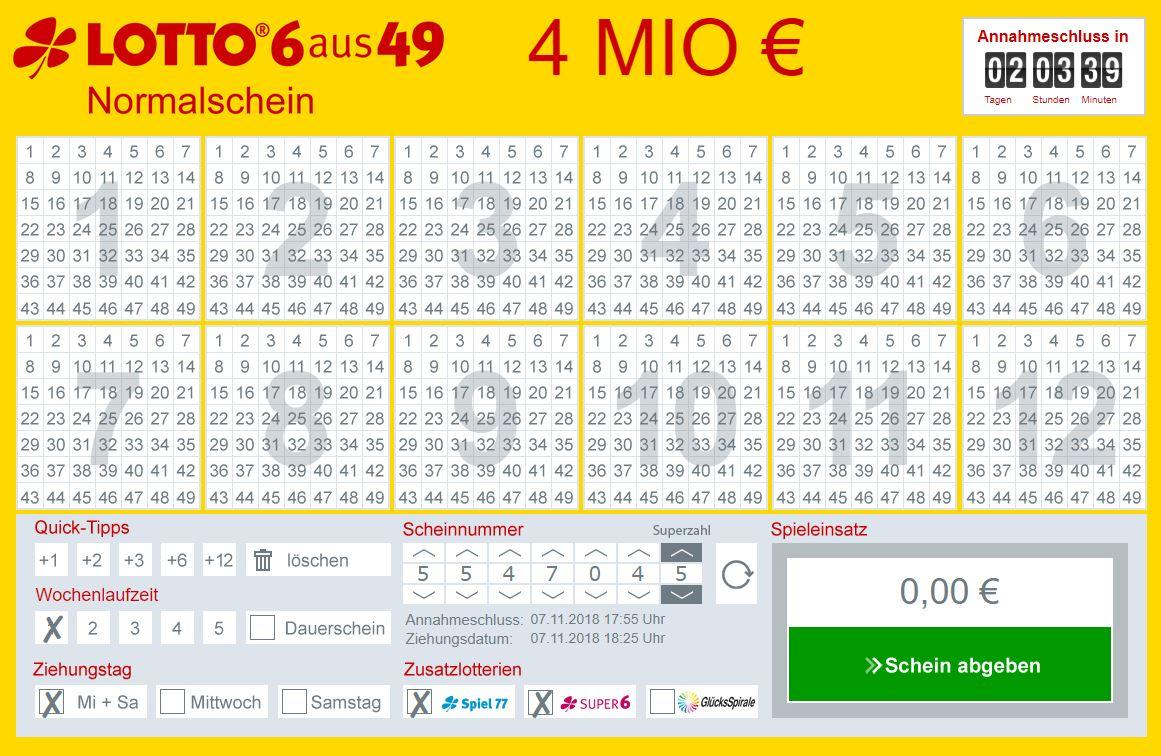 lottobay Hinweis